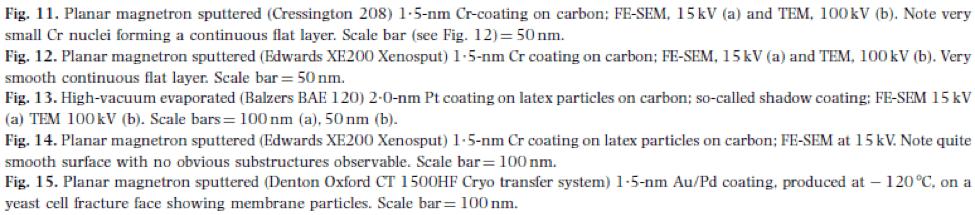 توضیح تصاویر لایه نازک کروم با شرایط مختلف بر روی نمونه ها با میکروسکوپ های SEM، FE-SEM و TEM